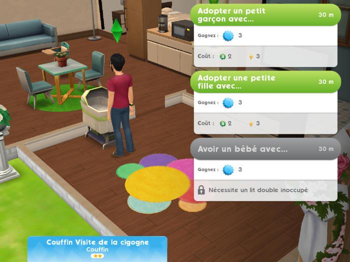 Avoir un bébé dans les Sims Mobile