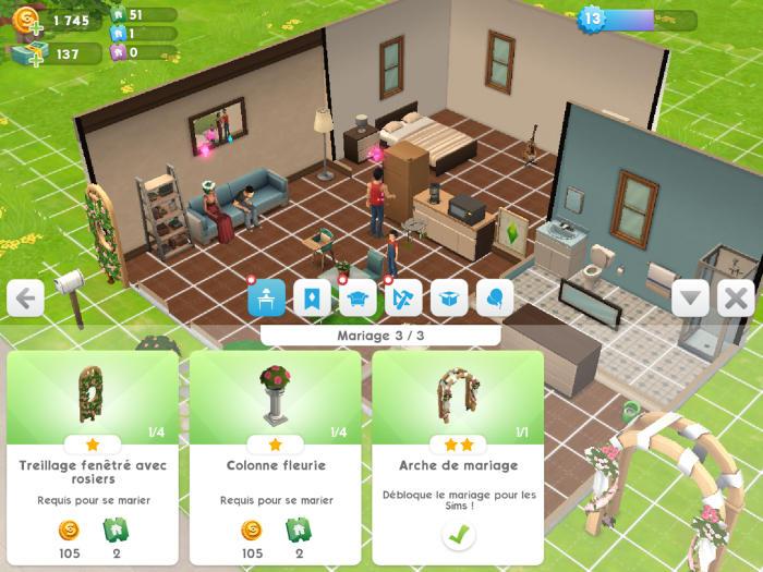 Achat des meubles pour le mariage