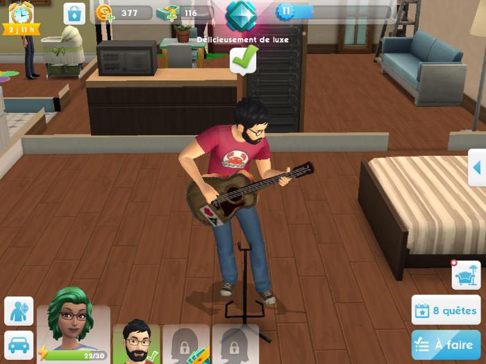 Gameof joue de la guitare