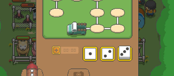 Le mini jeu de l'oie