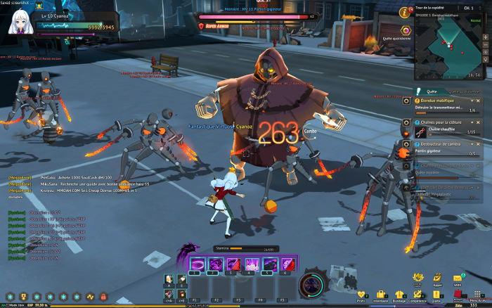 Les combats dans SoulWorker