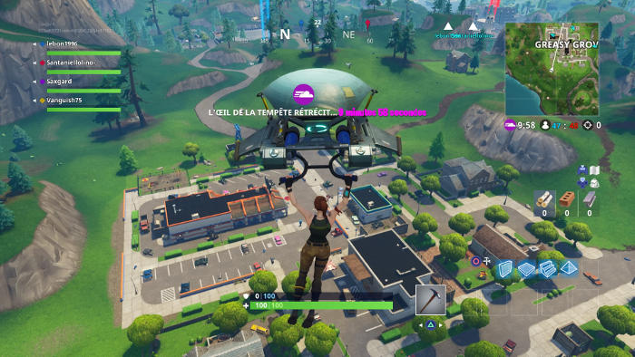 Largage sur la map dans Fornite Battle Royale