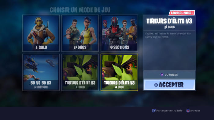 Différents modes Battle Royale