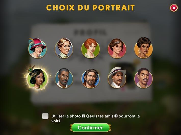June's Journey, choisir son portrait