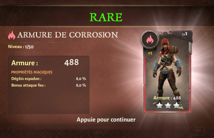 Carte armure - Dungeon Hunter 5
