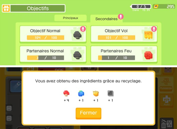 Pokémon Quest: gagner des ingredients
