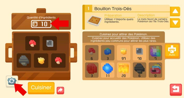 Pokémon Quest, le fonctionnement de la marmite