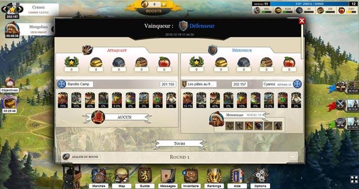 Les Seigneurs simulateur de bataille