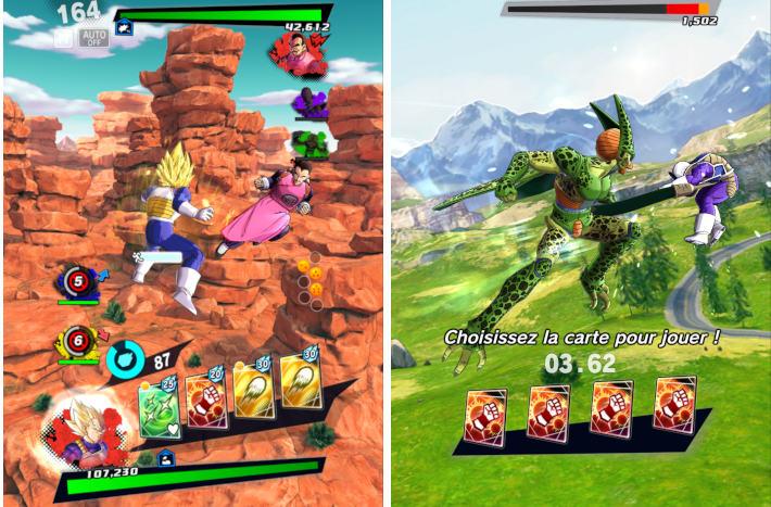 Combats dans Dragon Ball Legends