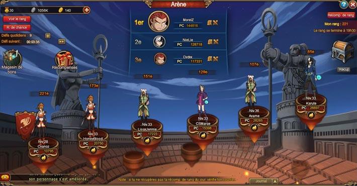 Fairy Tail, voyage du héros, combat d'arène