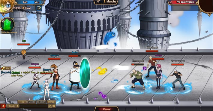Fairy Tail, combat