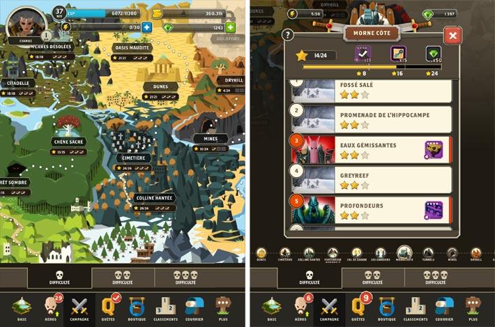 Questland map