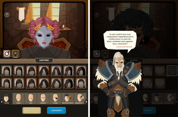 Questland création de personnage