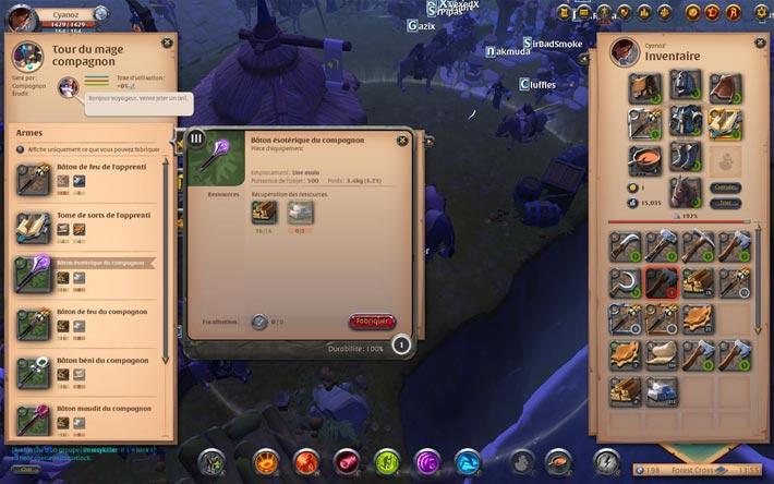 L'artisanat au cœur de Albion online