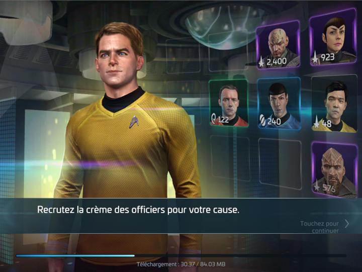 Assigner Kirk à un des vaisseaux