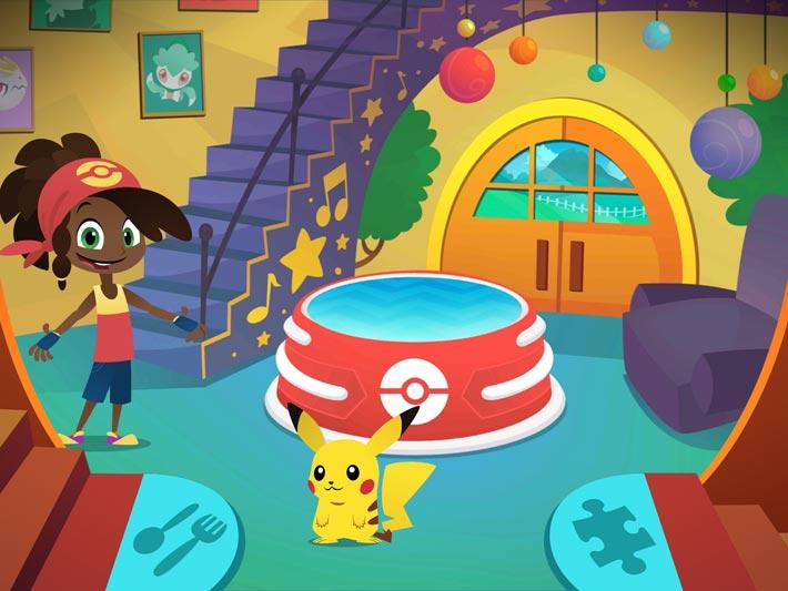 Pavillon Pokémon, le rez de chaussé
