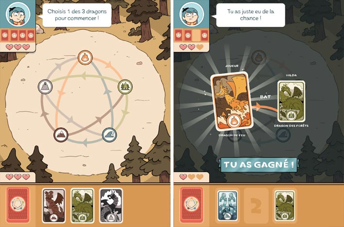 Hilda Creatures - Les cartes des Dragons
