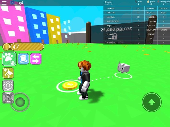 Roblox, a aussi des jeux d'élevage