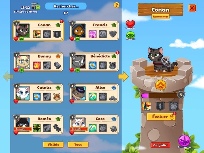 Castle Cats des chats à collectionner et à améliorer