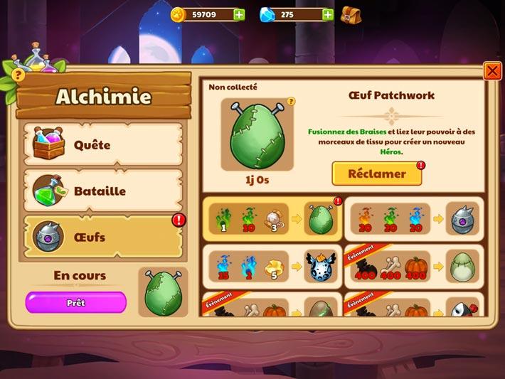 Conseil alchimie pour Castle Cats