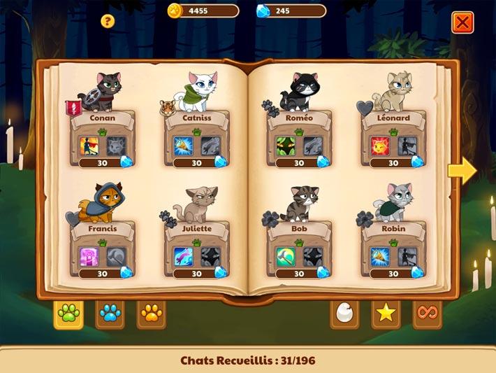 Castle Cats : Chatalogue pour votre collection de héros