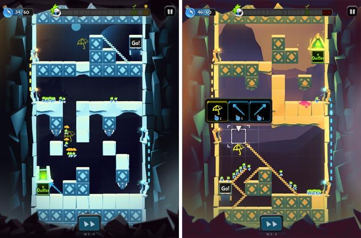 Lemmings-Aventure puzzle, les niveaux sont de vrais casse-têtes