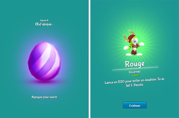 Lemmings-Aventure puzzle, des œufs renferment des lemmings à collectionner