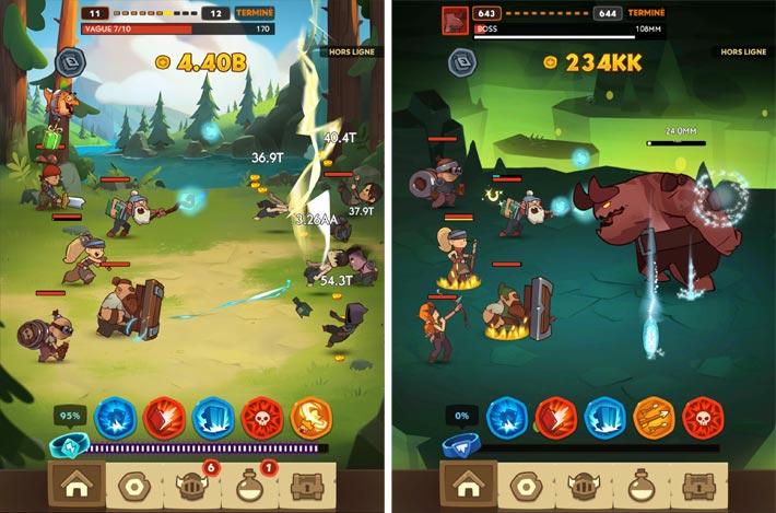 Almost a Hero - Idle RPG Clicker, les combats