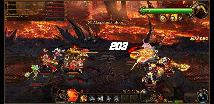 Souverains des Dragons, des combats automatisé à l'extrême