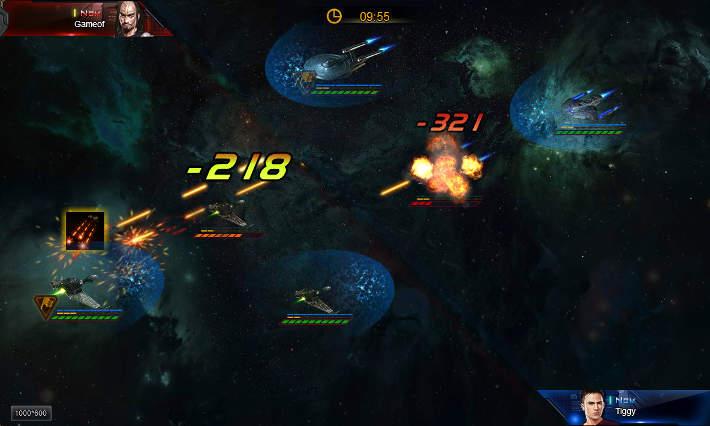 Bataille dans Star Trek: Alien Domain