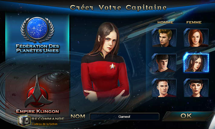 Capitaine de la fédération - Star trek: Alien Domain