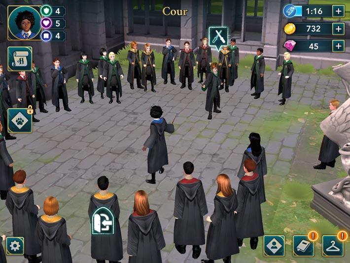 Harry Potter: Le secret de Poudlard, Duel d'assortiment sur le cours de l'école
