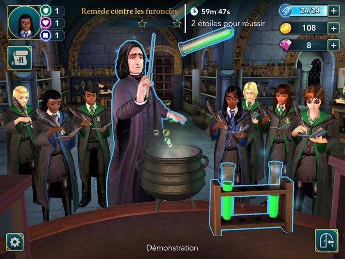 Harry Potter : Secret à Poudlard, les cours de potions du Professeur Rogue