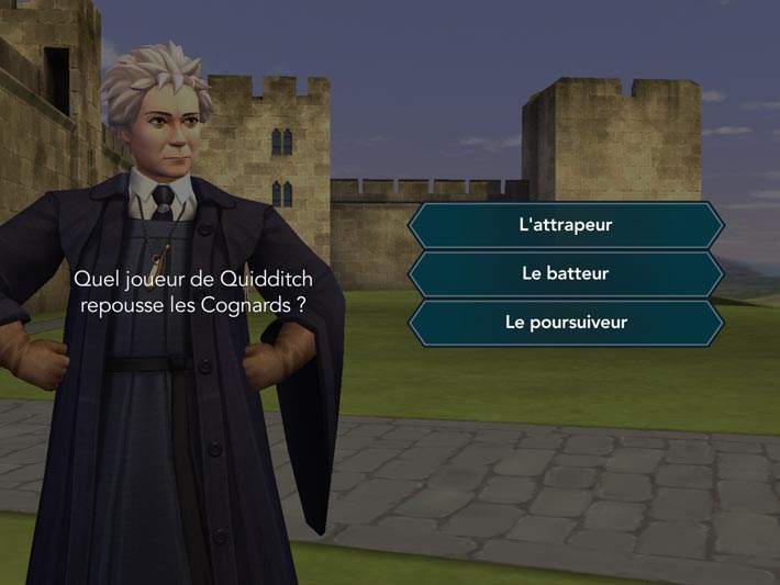 Harry Potter : Secret à Poudlard, quizz Quidditch