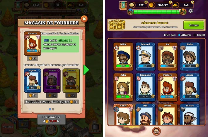 Idle Frontier: Tap Town Tycoon, des gestionnaires à collectionner