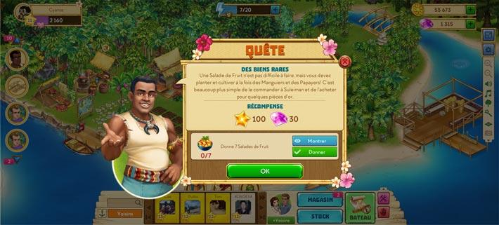 Taonga: l'Île Agricole, faire des quêtes pour un max de récompenses.