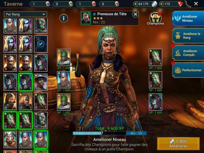 Raid Shadow Legends, il y a plusieurs moyens d'améliorer vos champions
