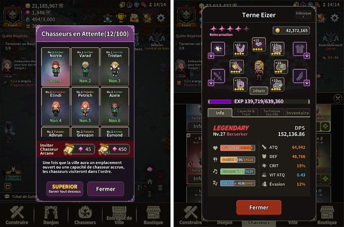 Evil Hunter Tycoon, des chasseurs à recruter et améliorer