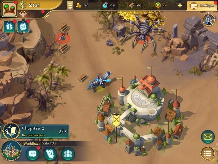 Art of Conquest: Dark Horizon, exploration