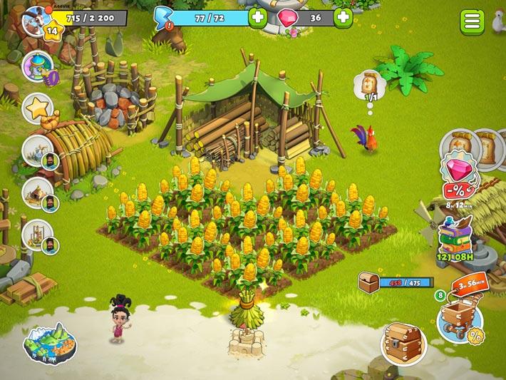 Family Island, cultivez les champs et décorez l'ile