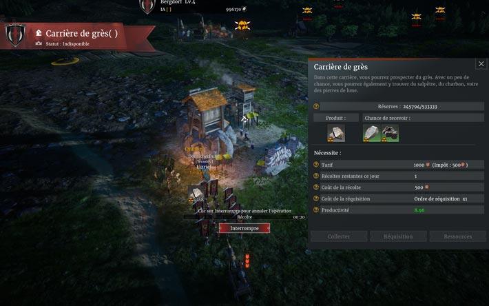 Conqueror's blade, la récolte de ressources