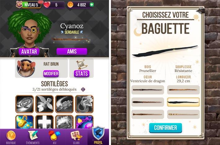 Harry Potter : Énigmes & Sorts, choisissez une baguette et apprenez des sorts