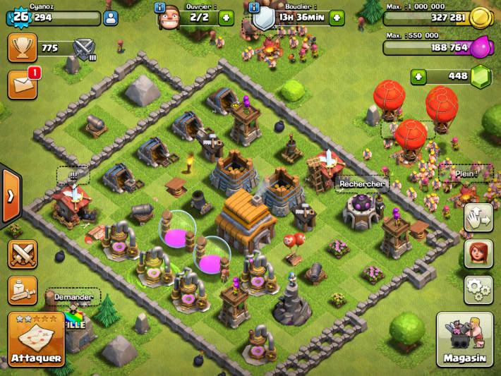 Notre base dans Clash of Clans