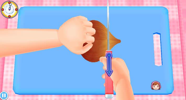 Couper un oignon - Cooking Mama