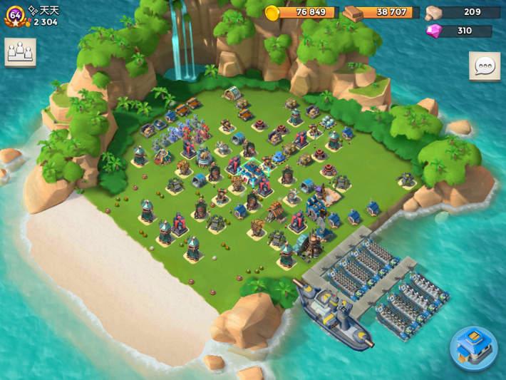 Camp sur Boom beach