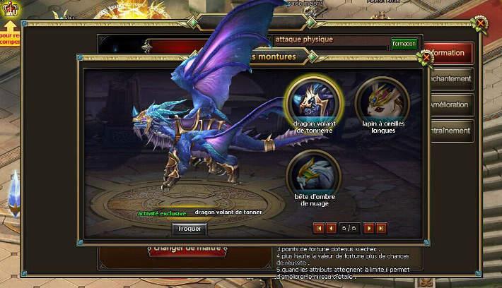 Les montures : Chevalier du dragon