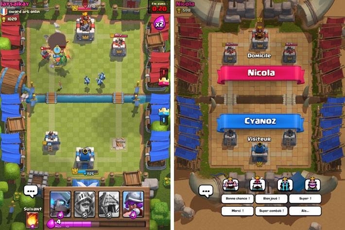 Batailles dans Clash Royale