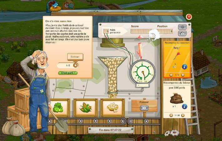 Evénements et compétitions dans Big Farm