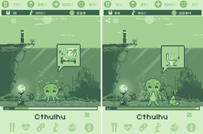 Evolution de notre Cthulhu Virtual Pet
