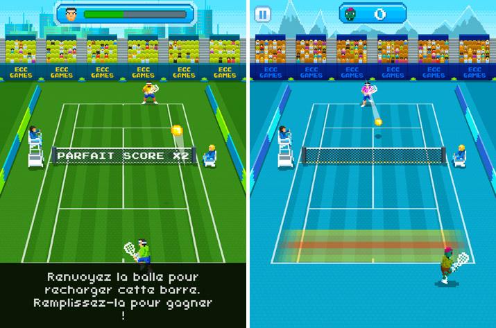 Matchs sur One Tap Tennis